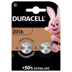 Knopfzellen-Duracell-3V-CR2016-0