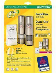 Kristallklare-Etiketten-25-Blatt-600-Eti-0