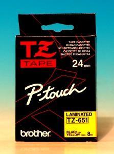 TZ-651-Ptouch-Band-laminiert-gelbschw-0